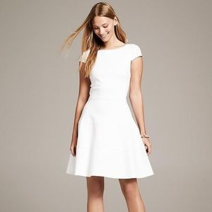 Banana Republic white cap sleeve dress